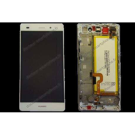 Bloc écran complet Huawei P8 LITE blanc d'origine