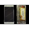 Bloc écran complet Huawei P8 LITE blanc d'origine ALE-L01