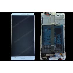 Écran complet vitre tactile + LCD Huawei Mate 9 blanc