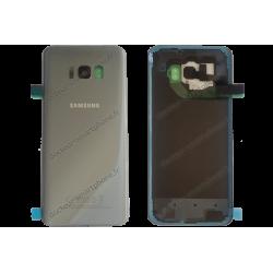 Vitre arrière d'origine Samsung pour Galaxy S8 PLUS argent / gris G955F