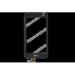 Vitre tactile LG K4 LTE LGK120E / LGK130EE noir d'origine