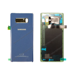 Vitre arrière Samsung Galaxy NOTE 8 bleu roi, N950F d'origine