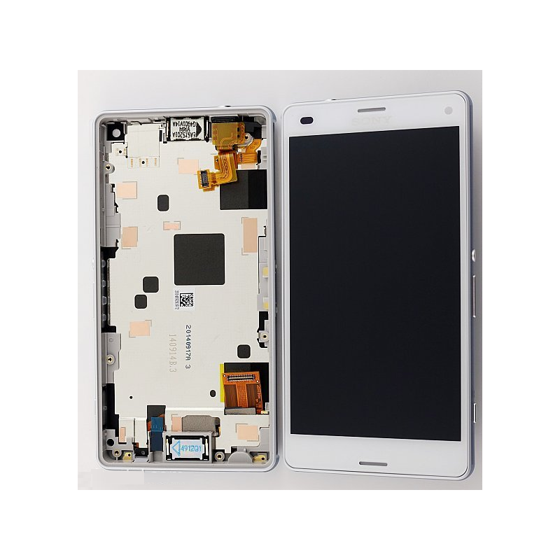 ecran lcd vitre tactile sony xperia z3 compact d5803 original blanc docteur smartphone. Black Bedroom Furniture Sets. Home Design Ideas