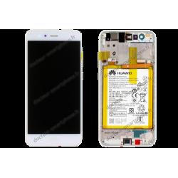 Bloc écran Huawei P10 LITE blanc d'origine WAS-LX1