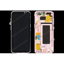 Écran LCD et vitre tactile Samsung Galaxy S8 rose d'origine G950F