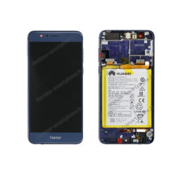 Bloc écran avec batterie Huawei Honor 8 bleu original FRD-L09