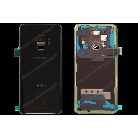 Vitre arrière Samsung Galaxy S9 DUOS noir d'origine G960