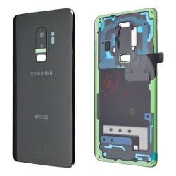 Vitre arrière Samsung Galaxy S9 Plus DUOS noir d'origine G965F
