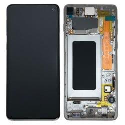 Écran complet Samsung Galaxy S10 blanc prisme original SM-G973F