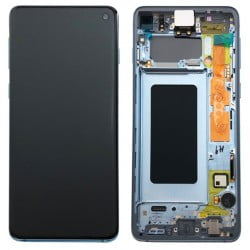 Écran complet Samsung Galaxy S10 Bleu prisme original SM-G973F