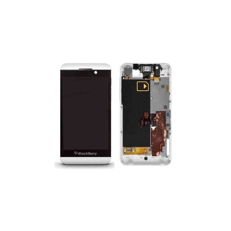 Ecran lcd vitre tactile blackberry z10 blanc d 39 origine for Photo ecran blackberry z10