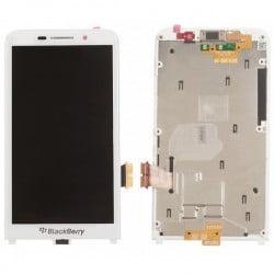 ECRAN LCD + VITRE TACTILE BLACKBERRY Z30 BLANC D'ORIGINE