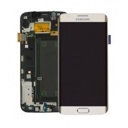 ECRAN LCD + VITRE TACTILE SAMSUNG GALAXY S6 EDGE D'ORIGINE GOLD