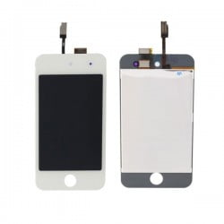 ECRAN LCD + VITRE TACTILE APPLE IPOD TOUCH 4 BLANC DE QUALITE ORIGINALE