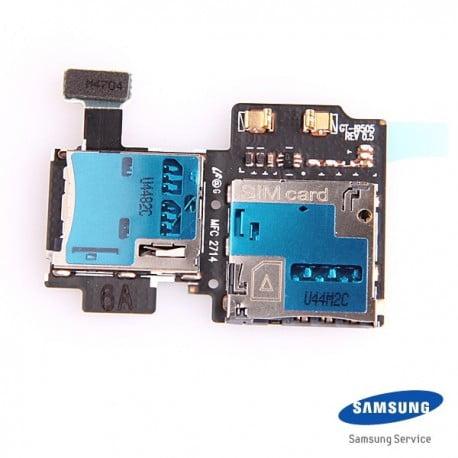 LECTEUR DE CARTE SIM ET MICRO SD SAMSUNG GALAXY S4 I9505 D'ORIGINE